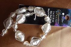 Bead Blue Moon Beads Lampworked Glass Clear Silver by darlamarie23, $2.95
