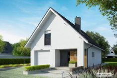 Riko G1 - projekt domu - Archipelag Gable Roof, Home Fashion, Women's Fashion, Modern House Design, Malaga, My Dream Home, My House, Home Goods, House Plans