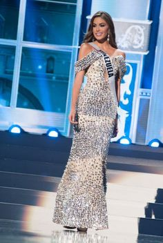 María Gabriela Isler, Miss Venezuela at Evening Gown Preliminary Competition. Gabriel, Miss Venezuela, Pageant, Moscow, Competition, Universe, Formal Dresses, Celebrities, Beauty
