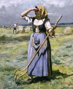 Biografía:  Julien Dupré (1851 - 1910), pintor francés, nacido en París es uno de los principales representantes del realismo francés en l...
