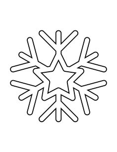 Snowflake Stencil 69 | H & M Coloring Pages