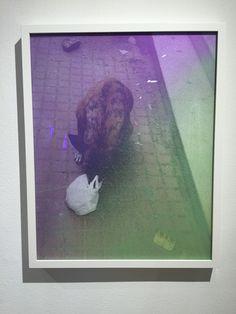 """Sascha Hughes-Caley """"Dog"""" Digital c-print, acrylic 16"""" x 20"""" 2016"""