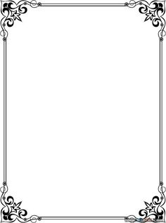 Frame Border Design, Page Borders Design, Borders For Paper, Borders And Frames, Muslim Images, Picture Borders, Ribbon Png, Wedding Borders, Border Templates