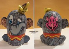 Dumbo Popcorns Custom Vinylmation by Howie Green