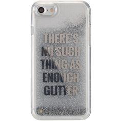 Agent18 Glittershield Silver iPhone 7 Case ($15) ❤ liked on Polyvore featuring accessories, tech accessories, silver, silver glitter iphone case, clear iphone cases, iphone cover case, agent 18 and apple iphone case