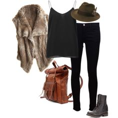"""""""Cloaked In Fur"""" by elise-olivia on Polyvore"""