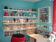 I'm aiming for a very similar color scheme. I even have a bright red retro clock from Gramma's attic I cannot WAIT to hang against the robin's egg walls.