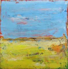 """** Modern Original Abstract Painting  ** Title: Field Trip 2  ** Artist : Francine Ethier  ** Dimensions: 24""""x 24""""x 1.5 ** Medium: Acrylic  ** Painted"""