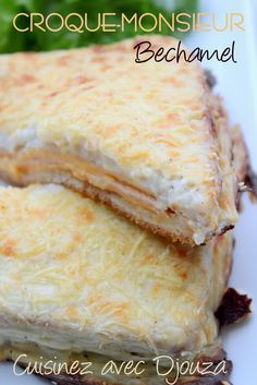 Croque-Monsieur béchamel au four - French Recipes Easy Smoothie Recipes, Easy Smoothies, Healthy Smoothie, Quiches, Croque Mr, Croque Madam, Smoothes Recipes, Bechamel Sauce, Coconut Recipes