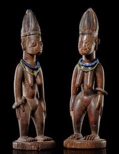 Yoruba Ere Ibeji (Twin Figure), Oyo - Saki, Nigeria http://afriart.tumblr.com/post/92188927629/nigeria-yoruba-ere-ibeji-twin-figure-oyo-saki