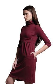 Turtleneck with 3/4 sleeves. AND DO I SEE POCKETS?!!!! #nursing #breastfeeding #dress