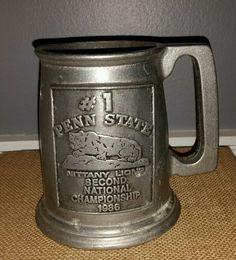 Vintage 1986 Penn State Football 2nd National Championship Beer Mug Stein Joepa #CastCraft #PennStateNittanyLions