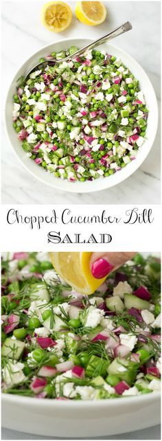 This simple Chopped Cucumber Dill salad pairs well with grilled entrees and is perfect forparties and potlucks. Make extra as leftovers are delicious!   via @cafesucrefarine
