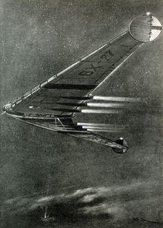 Flying Wing Airship from Günter Radtke on retro-futurismus.de