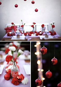 events4207 Romantic Wedding in red and white #redweddings #redcoloredweddings #weddingideas