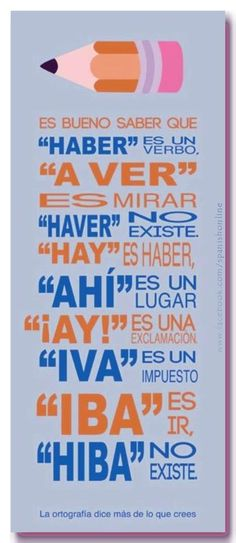 Un poco de ortografía castellana #infografia