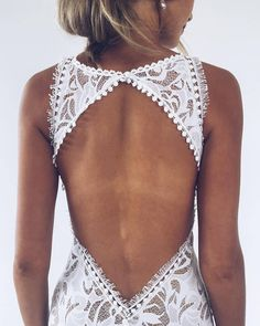 That BACK! Nothing screams effortless glamour like a slip-on stretch lace gown. Pair that with tassels, exotic European trims and that silhouette - it's magic! Our signature EDIE gown | Grace Loves Lace