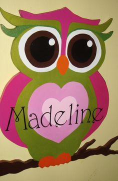 Cutest owl I've seen. Perfect for the kids bedroom.