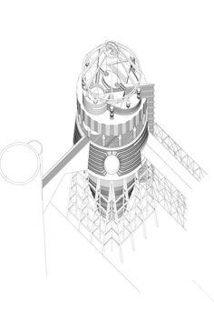 London Brickworks project - workshop Axo