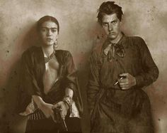 Frida Kahlo and the Russian poet and futurist Vladimir Mayakovsky