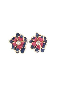 Peony Earrings in Midnight Love on Emma Stine Limited
