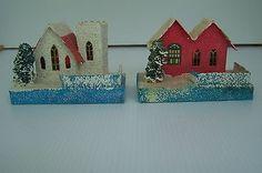 Vintage Cardboard and Mica Putz Houses #2