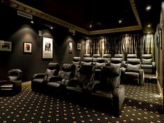 home theatre - another great colour scheme, sophisticated