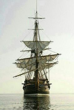 A scene to please me eye...sails up and ready for action. Are ye ready for action too?