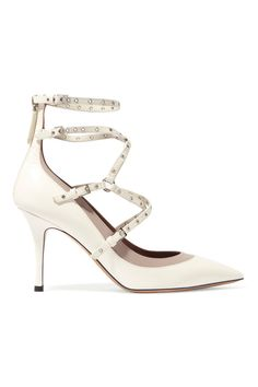 Valentino Love Latch eyelet-embellished leather pumps - By Savio Fashion Sale Price $995.00 #bridal #shoes #wedding