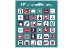 Set of 36 scientific icons by Sunny_Lion on @creativemarket