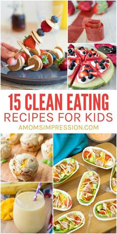 A collection of some of the most delicious clean eating recipes for kids. A collection of some of the most delicious clean eating recipes for kids. These healthy ideas are so good your kids won't miss the added junk. Clean Eating Kids, Clean Eating For Beginners, Clean Eating Snacks, Eating Habits, Clean Foods, Clean Eating Dinner Recipes, Clean Dinners, Clean Diet, Menu Dieta