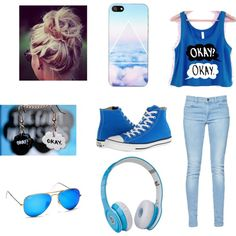 """Blue <3"" by lea2587 on Polyvore"