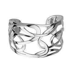 Filigree silver cuff bracelet by Elle Jewellery
