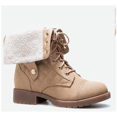 Justfab Booties Tamaris ($40) ❤ liked on Polyvore featuring shoes, boots, ankle booties, brown, faux-fur boots, quilted booties, justfab, quilted boots and justfab boots
