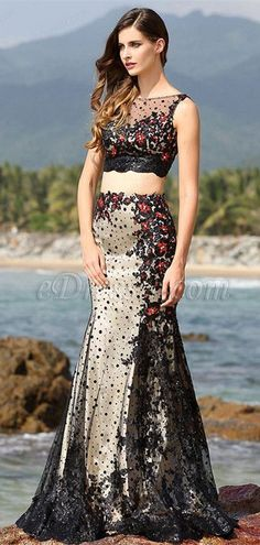 Two-piece black formal dress, eDressit 2016 newest dress! #edressit #formal_dress #black_dress #fashion | eDressit | 2016 S/S Fashion | Pinterest