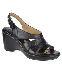 Naturalizer Shoes, Kirina Wedge Sandals - Comfort - Shoes - Macy's  in black
