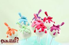 Cake Pops with Paint Brushes...adorb!