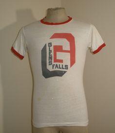 Vintage Champion Blue Bar Products Glenn Falls Cotton Blend Soft Shirt T Shirt M | eBay
