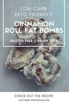 Cinnamon Roll Fat Bombs - Low Carb, Keto, Gluten Free, Grain Free