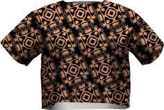 vfs-fashion-190 SHORT SLEEVE NEOPRENE SWEATSHIRT PAOM-VFS from Print All Over Me #taupe #black #cropTop #fashion #tops #fashionTops