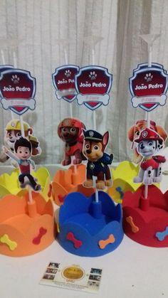 Divertida idea de decoración para fiesta temática de la Patrulla Canina