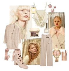 """""""set No 19"""" by over-and-under ❤ liked on Polyvore featuring Mercedes-Benz, American Vintage, Valentino, A.L.C., MICHAEL Michael Kors, Kate Spade, Chanel, Clarins and Charlotte Tilbury"""