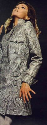 emma peel snakeskin jacket, worn in silent dust ...The Avengers : Fashion Guide to Series 4 ; 7