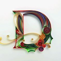 Quilling Letters, Origami And Quilling, Quilled Paper Art, Paper Quilling Designs, Quilling Paper Craft, Paper Crafts, Quilling Ideas, Photo Letters, Gold Letters