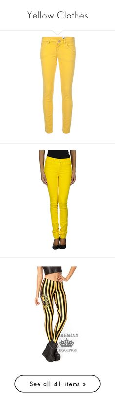 """Yellow Clothes"" by carlou863 on Polyvore featuring jeans, pants, bottoms, yellow skinny jeans, skinny fit denim jeans, denim skinny jeans, 5 pocket skinny jeans, cut skinny jeans, yellow et button-fly jeans"
