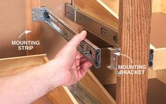 by Brad Holden Roll-out shelving is one of the most popular features of new kitchen cabinets. Mounted on standard drawer slides, these shelves give you easier… Diy Kitchen Storage, Diy Kitchen Cabinets, Kitchen Drawers, Built In Cabinets, Cabinet Drawers, Kitchen Island, Face Frame Cabinets, Wall Cabinets, Roll Out Shelves