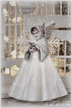 ~ Christmas Past ~ Vintage Christmas Ornaments, Pink Christmas, Christmas Angels, Christmas Holidays, Christmas Poinsettia, Crochet Christmas, Angel Crafts, Christmas Crafts, Christmas Decorations