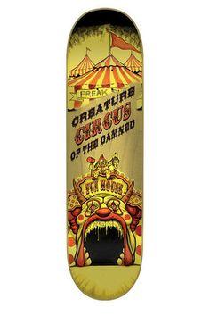 【CREATUREクリーチャー】8.375inx32inBINGAMANCIRCUSOFTHEDAMNEDPRODECKデッキテイラー・ビンガマンスケートボードスケボーストリートsk8skateboardデッキテーププレゼント!!