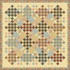 old primrose inn pattern by moda - rework in warm/bright scraps