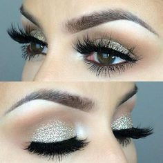 31 Beautiful Wedding Makeup Looks for Brides I want to try the second one for fun - looks so pretty!